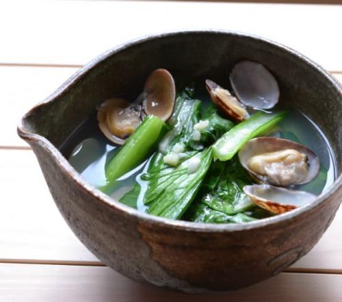 あさりと小松菜の中華風スープ