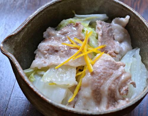 白菜と豚肉の蒸し煮