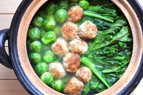 芽キャベツとのらぼう菜の鍋