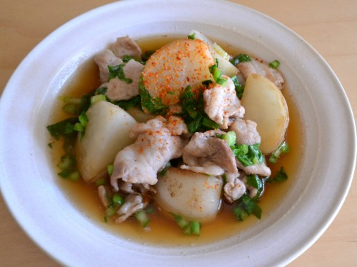 豚肉とかぶの炒め煮