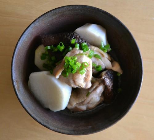 里芋と鶏肉の塩煮2
