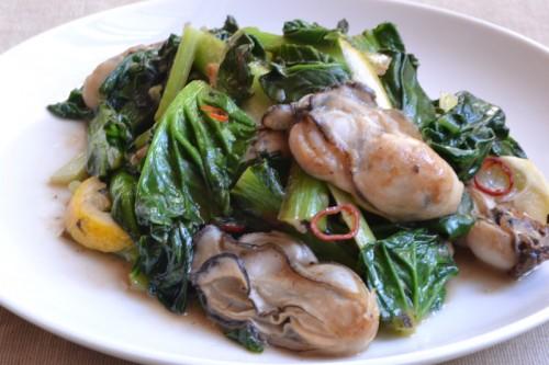 牡蠣とベカ菜